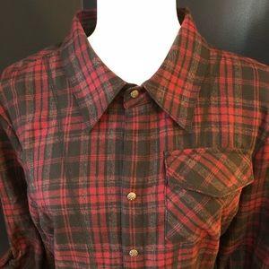 Athleta Plaid Flannel Shirt